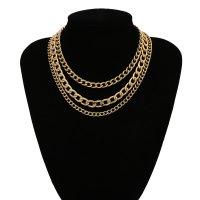 N2333 - Retro chain multi-layer tassel necklace