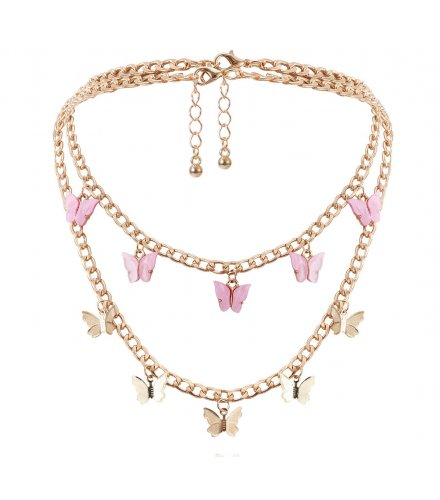 N2335 - Retro butterfly necklace