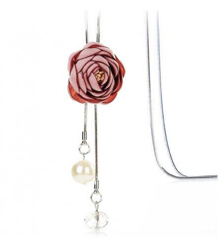 N2336 - Korean wild flower pendant Necklace