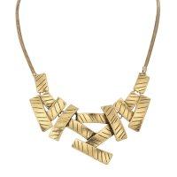 N2345 - Geometric Stitching Necklace