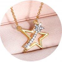 N2352 - Cute star sea pendant necklace