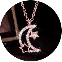 N2354 - Korean star and moon necklace
