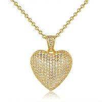 N2357 - Zircon Heart Pendant Necklace