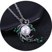 N2358 - Love heart pearl tassel necklace