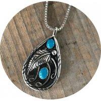 N2359 - Retro drop-shaped ladies necklace
