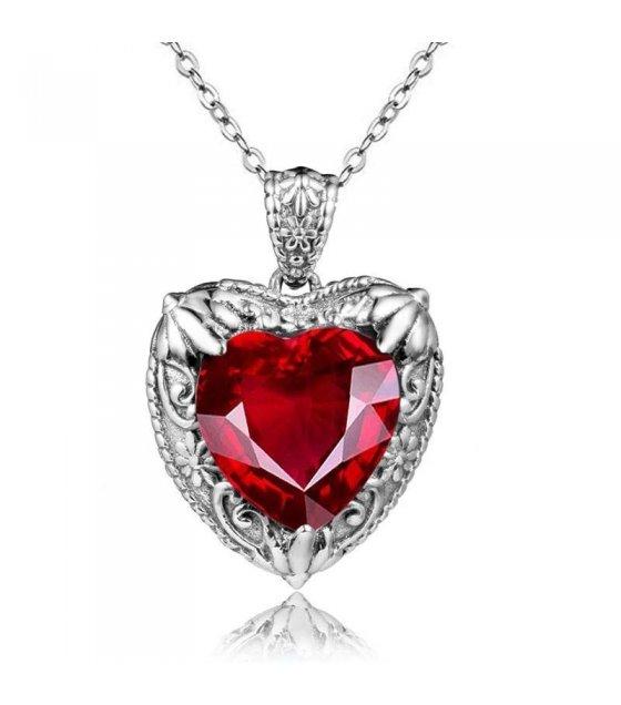 N2362 - Ocean heart love lady necklace