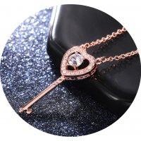 N2364 - Fashion love key pendant necklace