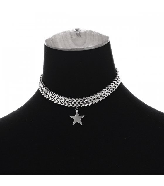 N2365 - Bohemian five-pointed star pendant Necklace