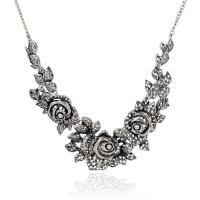 N2287 - Retro vintage flower Necklace