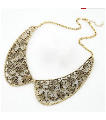 N441- Golden Collar Necklace