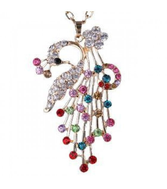 N581 - Colorful Peacock Necklace