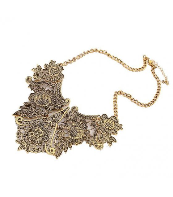 N603 - Retro Carved  Short Necklace