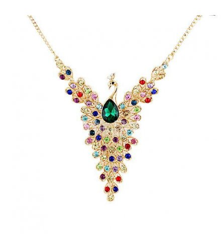 N901 -  exquisite gem peacock necklace