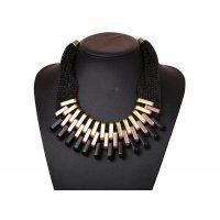 N942 - Multi-layered Brown Necklace