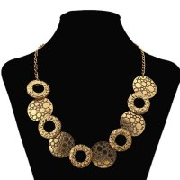 N955 - Luxury Bronze Circular Necklace