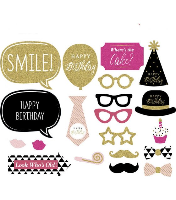 PS001 - Birthday Party 19PCS Set Photobooth Prop