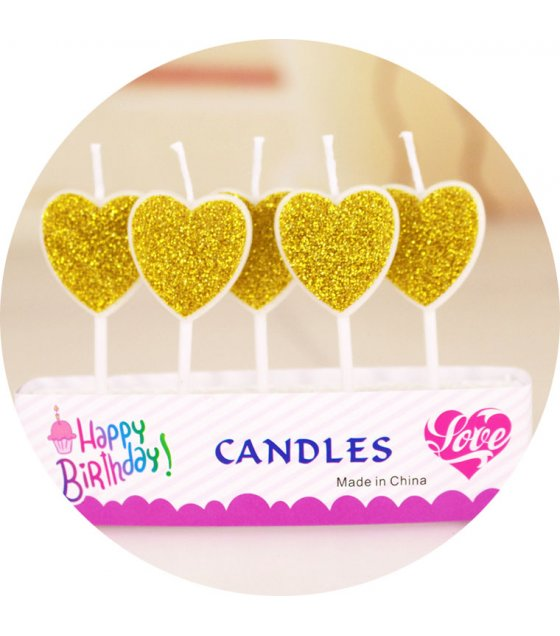 PS018 - Gold Birthday Candles