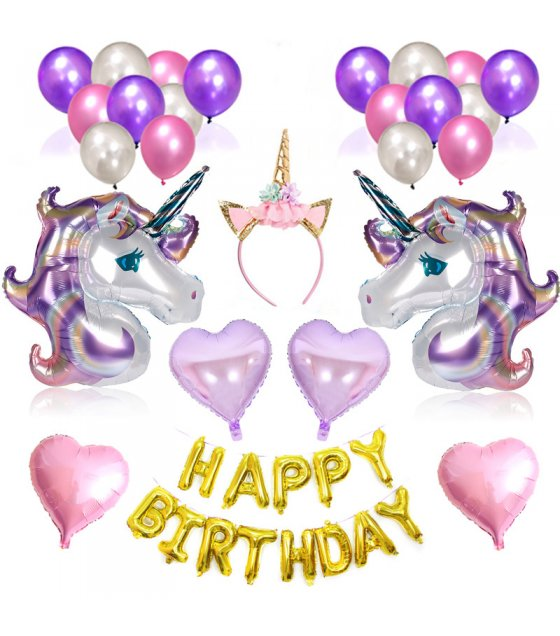 PS024- Unicorn Party Balloon Set