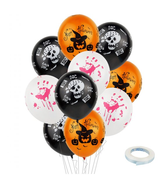 PS034 - Halloween Latex Balloon Set
