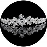 PS064 - Exquisite Bridal Crystal Headband Tiara Crown