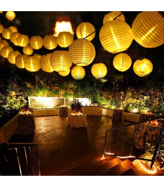 PS078 - Solar Lantern Light String 30LED Outdoor Party Lantern