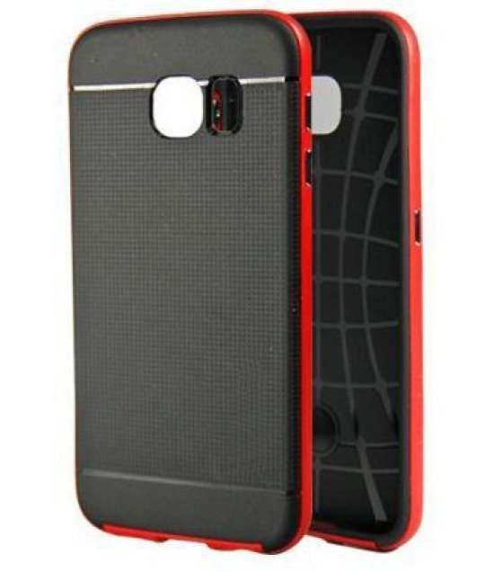 PA081 - Samsung galaxy S6 Red Hybrid Case