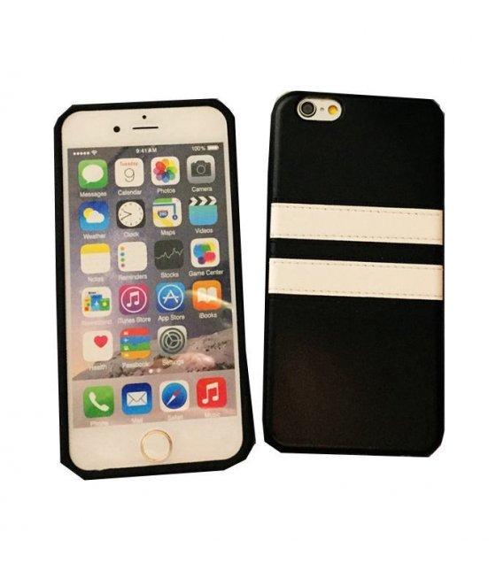 PA127-Apple Iphone 6/6s Black And White Stripe Case