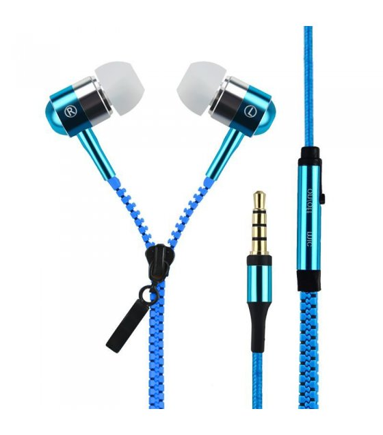 PA135 - Deep Blue zipper headphones