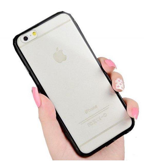 pa185 iphone 6 6 clear back black bumper case sri lanka. Black Bedroom Furniture Sets. Home Design Ideas
