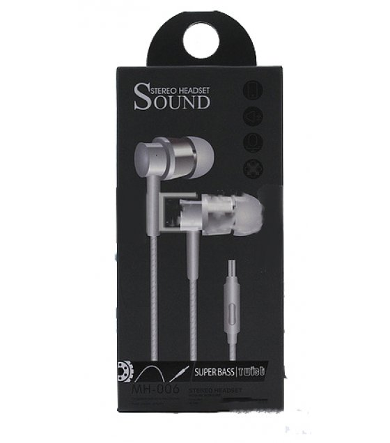 PA201 - Silver MH006 In-Earphones