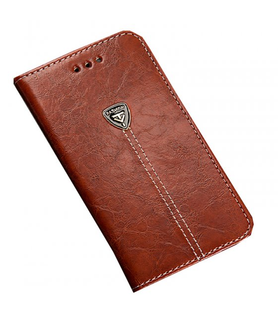 PA225 - Apple Iphone 6/6S Leather Brown Wallet Flip Case