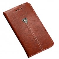PA227 - Apple Iphone 7  Leather Brown Wallet Flip Case