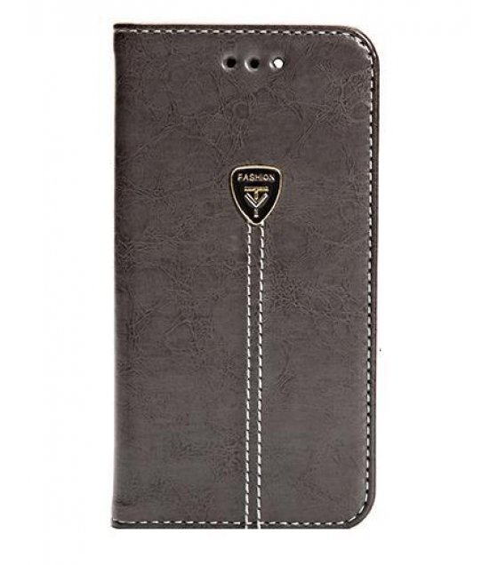 PA228 - Apple Iphone 7 Leather Black Wallet Flip Case