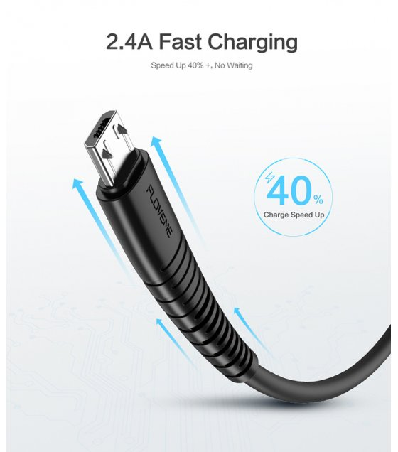 PA335 - Floveme  Micro USB Charging Cable Data Sync Charger Cord for Android Type-C Phone