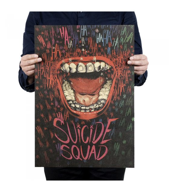 PO010 -Suicide Squad Joker Mouth Poster