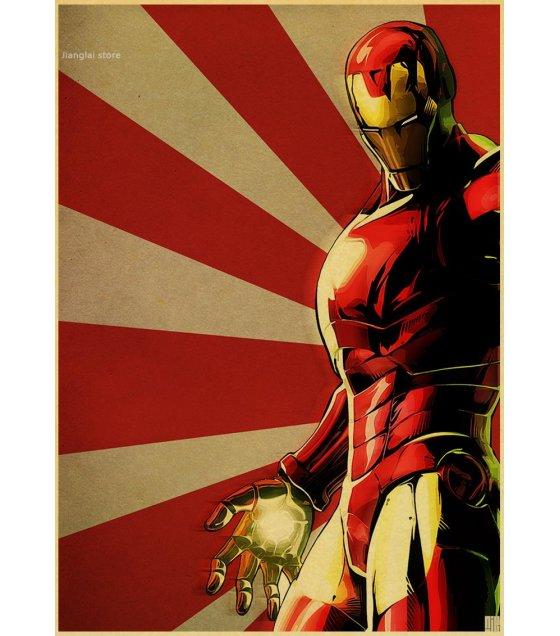 PO011-Classic Iron Man retro Poster