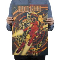 PO012 -Retro Iron Man Poster