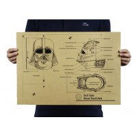 PO017-Darth Vader Helmet Blueprints Poster