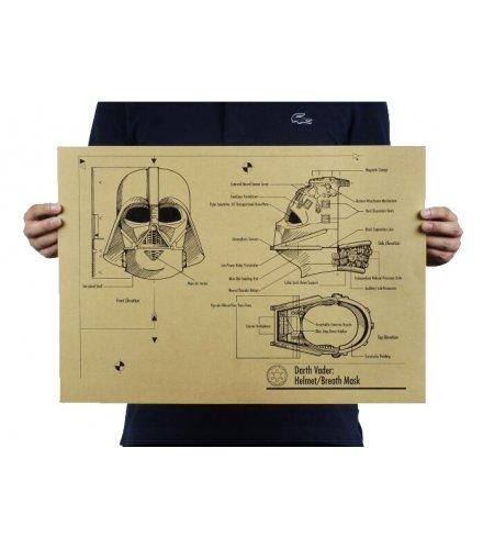PO017-Darth Vader Helmet Blueprints Poster