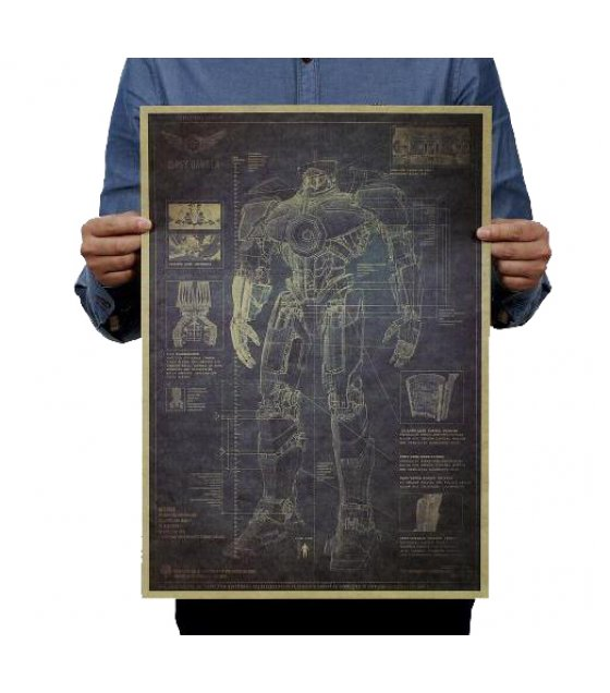 PO018- Pacific Rim Blueprint Poster