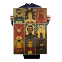 PO019 - Superheros Kraft Poster