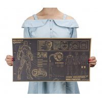 PO037 -Iron Man Mark 6 Blueprint Poster