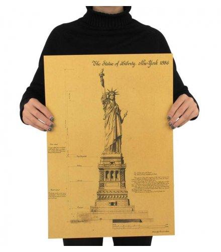 PO038 - Statue of Liberty Kraft Poster