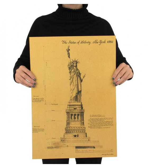 PO038 - Statue of Liberty Kraft Poster