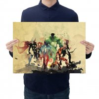 PO042 -Avengers Watercolor Poster