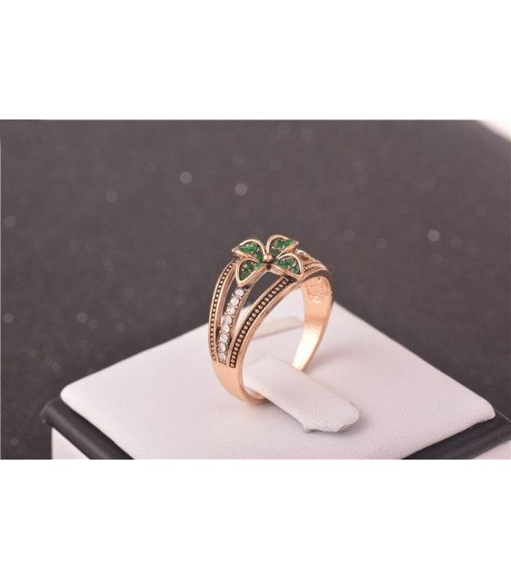 cz rings antique item clover lucky sterling women love silver luxury for brand micro