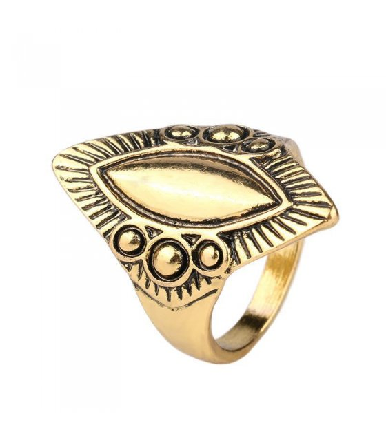 R169 - Carved Oval Bronze Ring
