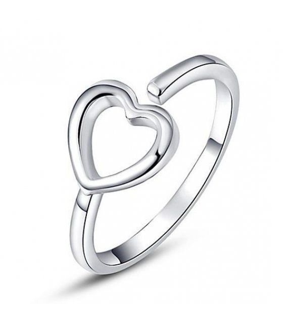 R194 - Lovers Heart Silver Ring