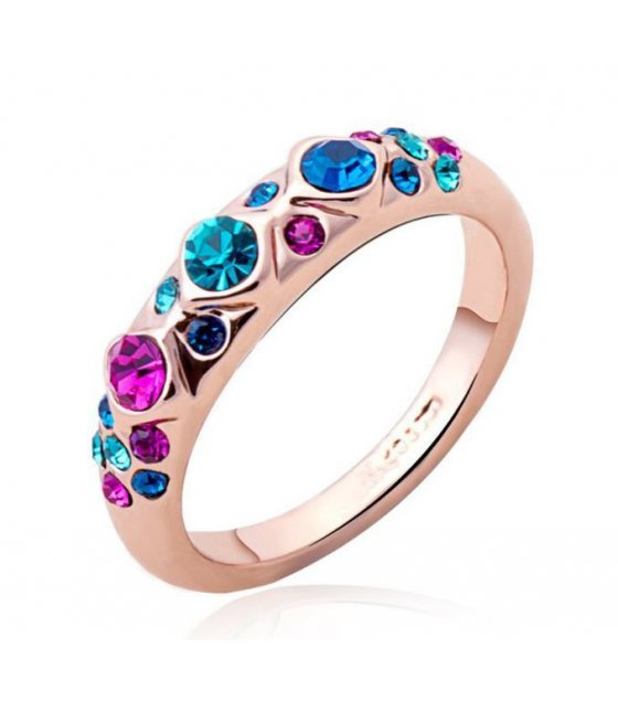 R197 - Colored Stone Simple Ring