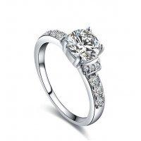 R235 - Roxi Silver White Diamond Ring
